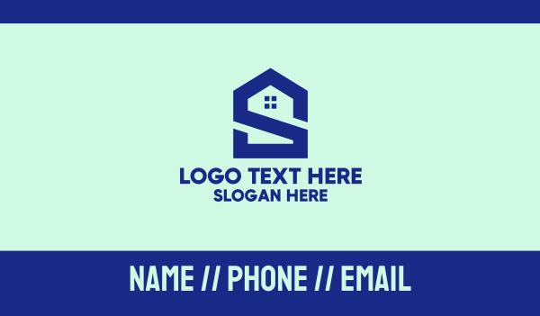 company identity - S Shape Polygon House  Business card horizontal design