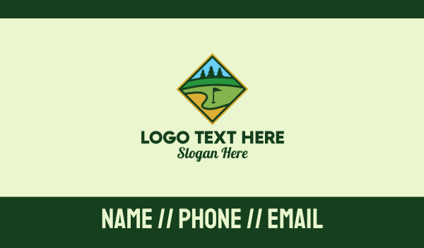 golfing - Golf Club Emblem  Business card horizontal design