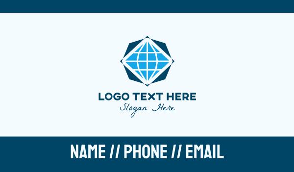 global business - Global Jewelry Company Business card horizontal design