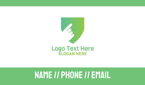 hacking - Tap Shield Business card horizontal design