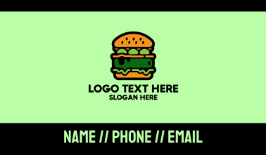 Vegan Food Burger Restaurant Business Card