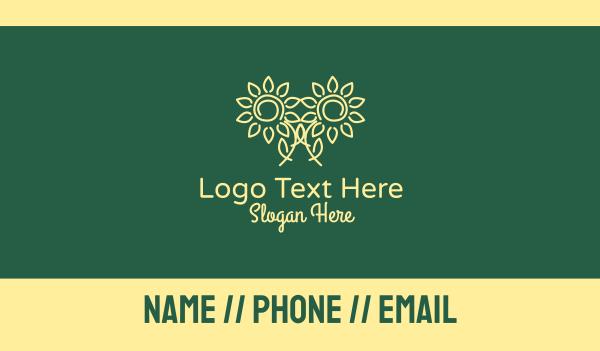 sunflower - Yellow Sunflower Petals  Business card horizontal design