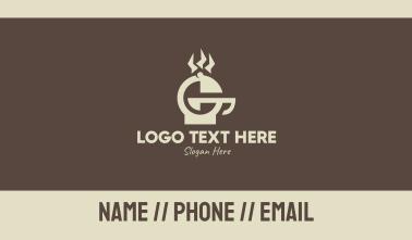 Brown Griller Letter G Business Card