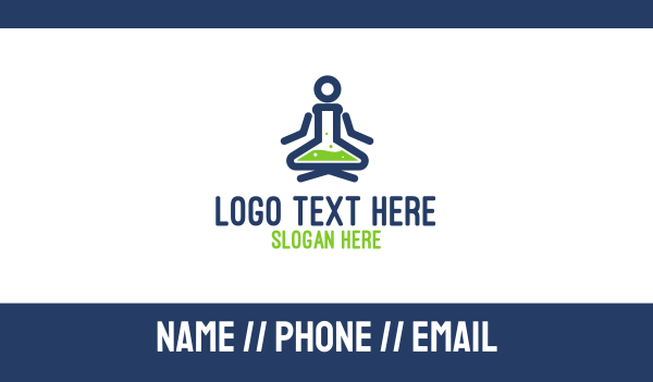 mixture - Lab Yoga Business card horizontal design