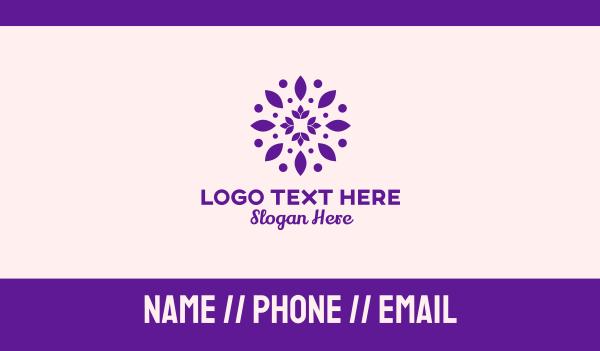 flower stall - Lotus Flower Pattern Business card horizontal design