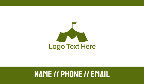 troop - Green M Tent Business card horizontal design
