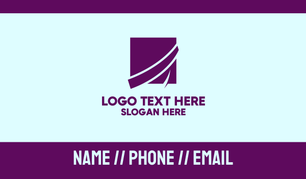 marketing - Purple Business Square Business card horizontal design
