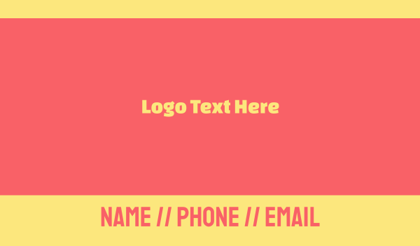 peach - Pink & Yellow Font Business card horizontal design