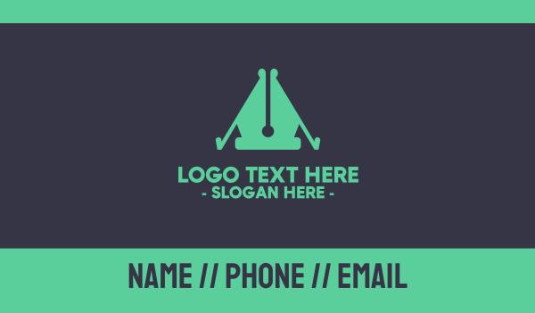 linguistic - Journalism Camp Business card horizontal design