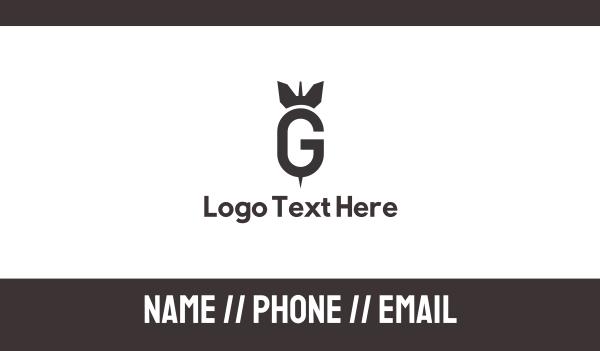 nuclear - Bomb Dart G Business card horizontal design