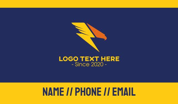 parcel - Fast Eagle Lightning Bolt Business card horizontal design
