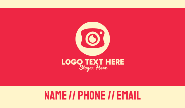 Mobile Photography Camera Business Card