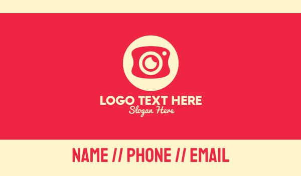 camera shop - Mobile Photography Camera Business card horizontal design
