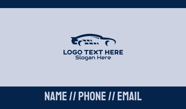 sports car - Sports Car Racing Business card horizontal design