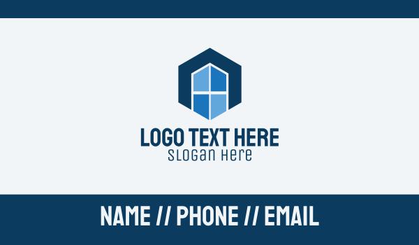 mirror - Hexagon Window Letter A Business card horizontal design