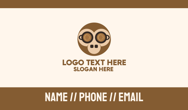hot choco - Coffee Monkey Business card horizontal design