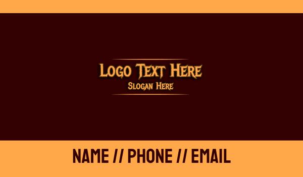 rebel - Caribbean Pirate Text Business card horizontal design
