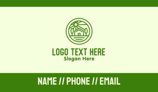 Eco Landscape Travel Villa Business Card