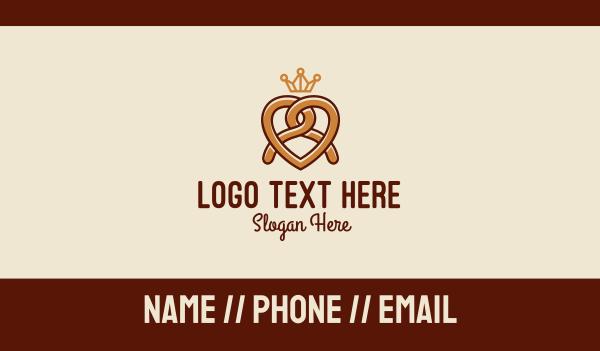 pretzel - Delicious Pretzel Crown  Business card horizontal design