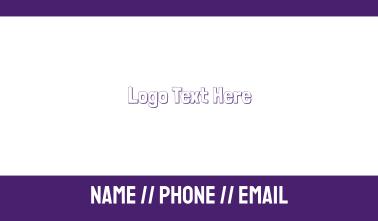 Purple & Friendly   Business Card