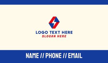 Origami Lightning Business Card