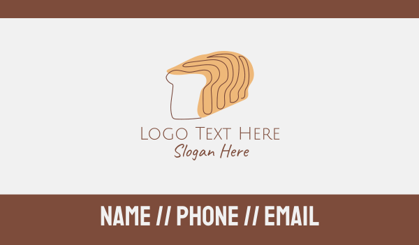 eat - Bread Loaf Line Art Business card horizontal design