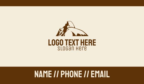 road trip - Nature Hiking Boulder Business card horizontal design