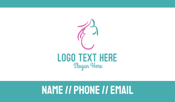 mom - Pregnant Woman Business card horizontal design