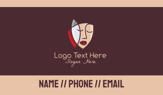 Artistic Face Business Card