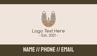 Outdoor Mountain Tepee Business Card