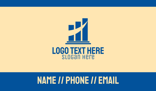 bar chart - Corporate Pillar Bars  Business card horizontal design