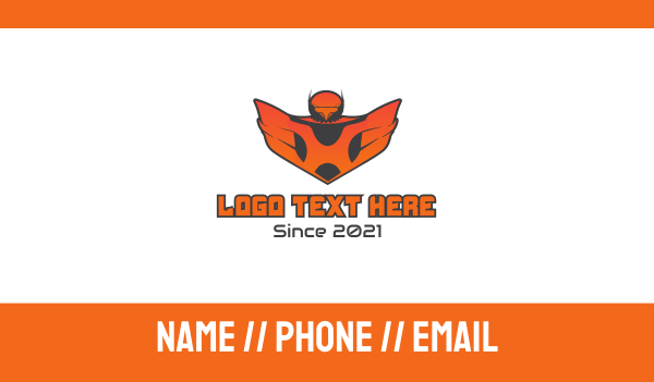 eagle - Gaming Falcon Business card horizontal design