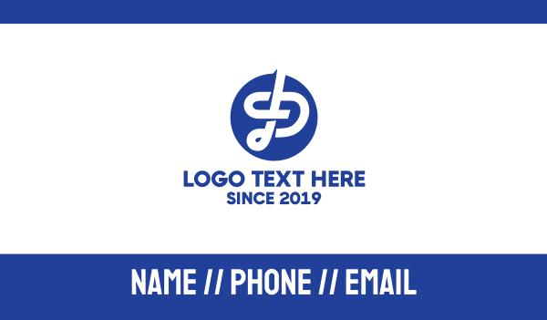 tandem - Monogram PT  Business card horizontal design