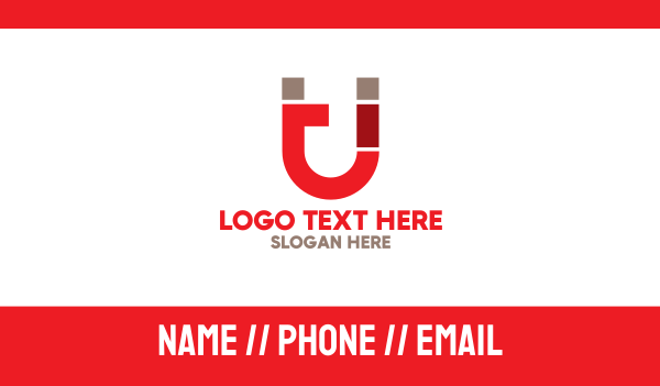 machining - Red Magnet T Business card horizontal design