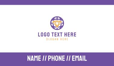 Diamond Globe Business Card