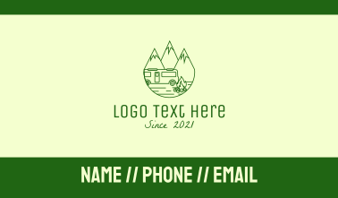 Camping Mountain Peaks Business Card