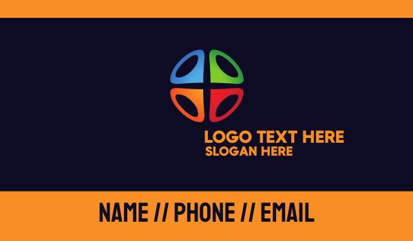 place - Multicolor Locator Business card horizontal design