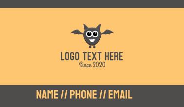 Baby Bat Mascot Business Card