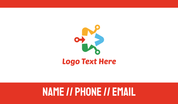video conferencing - Media Star Business card horizontal design