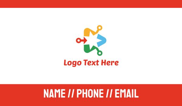 pop - Media Star Business card horizontal design