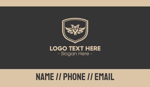 sigil - Owl Emblem Business card horizontal design