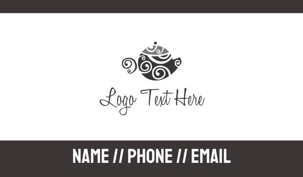 teapot - Art Pot Business card horizontal design