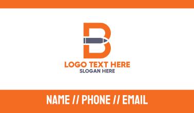 Letter B Gun Bullet Business Card