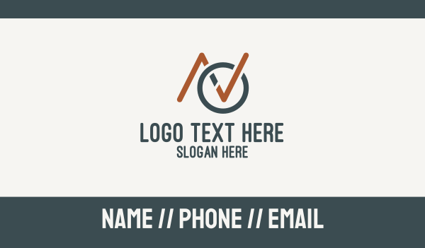 check mark - Check Mark Letter AVO Business card horizontal design