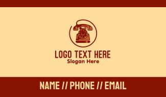 Vintage Telephone Company Business Card