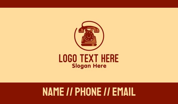 old school - Vintage Telephone Company Business card horizontal design