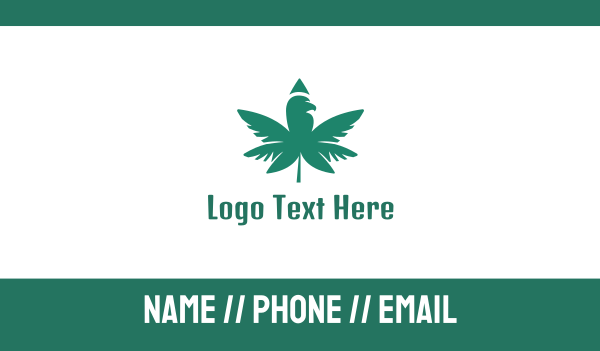 marijuana - Moss Green Cannabis Business card horizontal design
