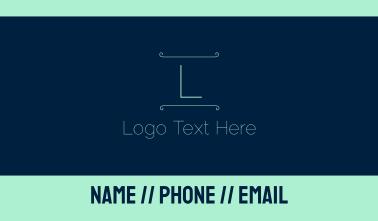 Blue Green Letter Business Card