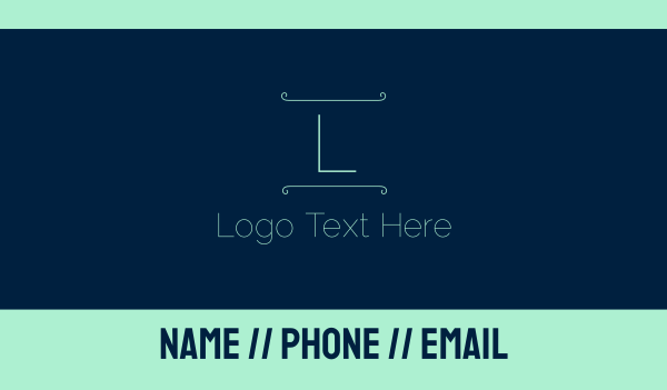 greece - Blue Green Letter Business card horizontal design