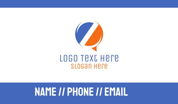 lettermark z - Letter Z Bubble Business card horizontal design